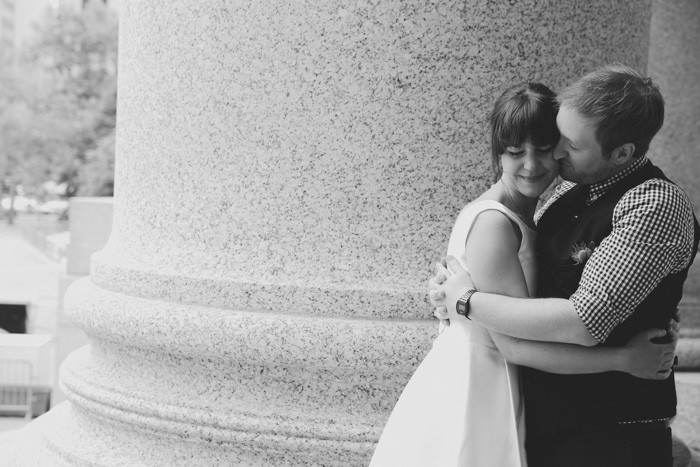 Couple at City Hall Elopement