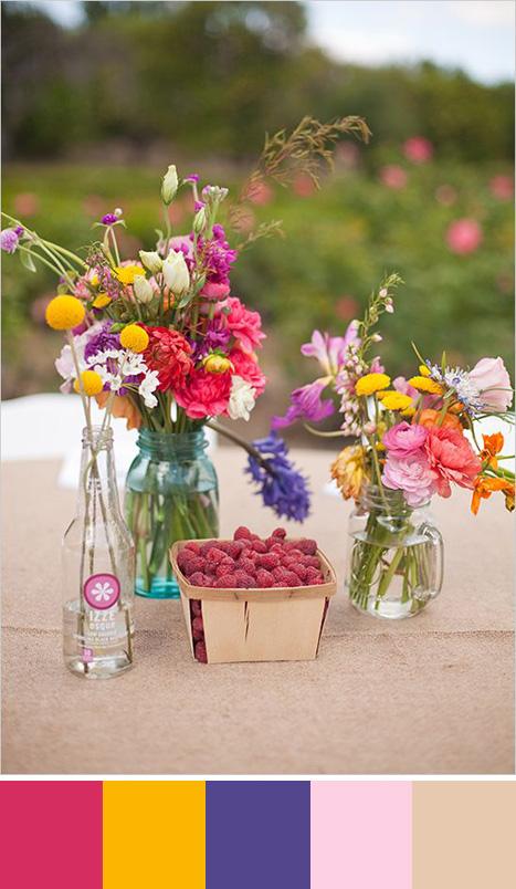 raspberry color palette