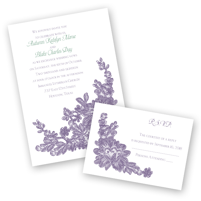 Ann's Bridal Bargains Wedding Invitation