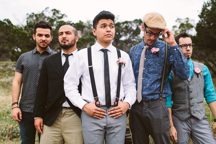 groom and groomsmen portrait
