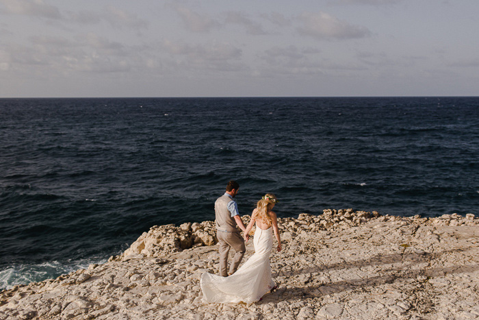 bride and groom in Antigua