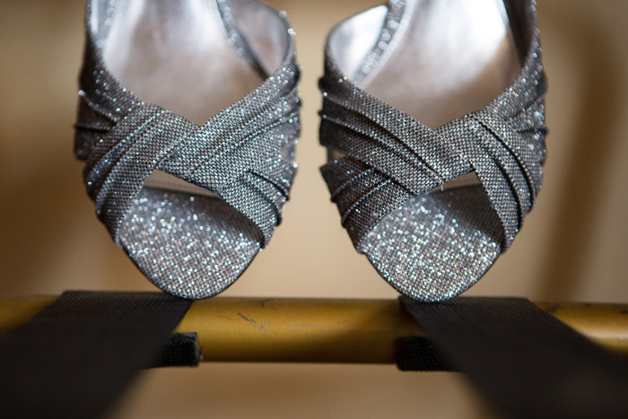 sparkly grey wedding shoes