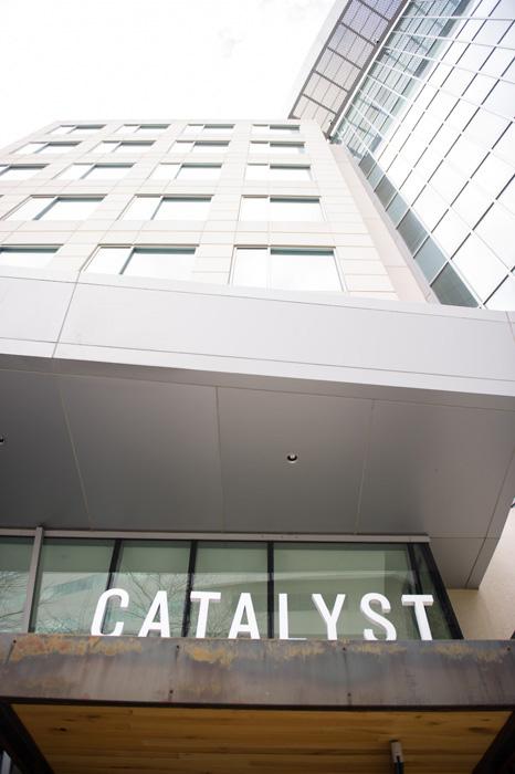 Catalyst restaurant sign