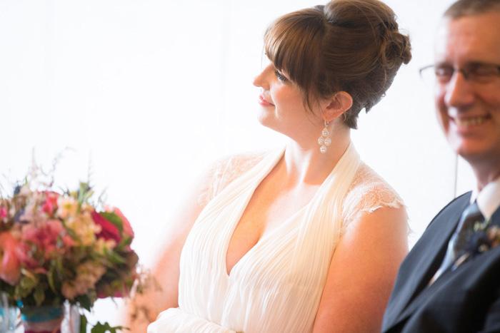 bride at reception