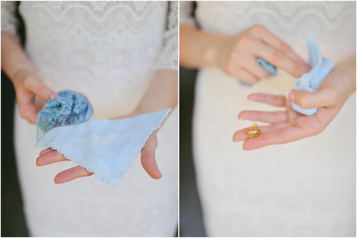 bride with hankerchief