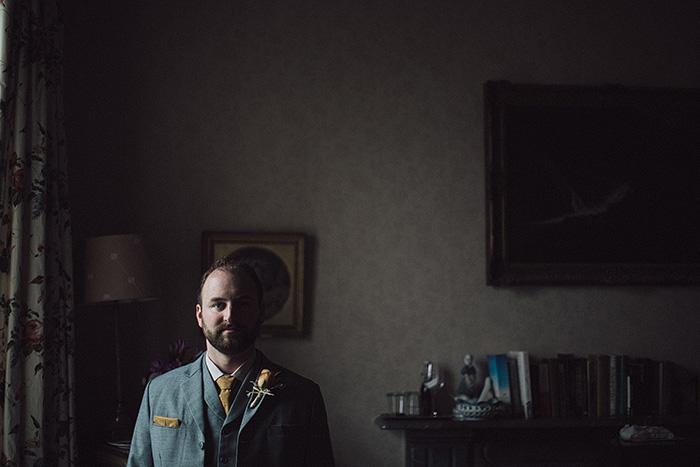 groom portrait in his room