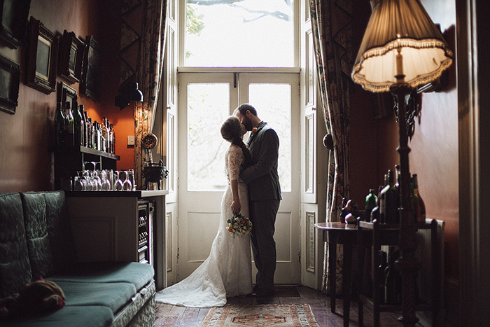 Inn wedding portrait