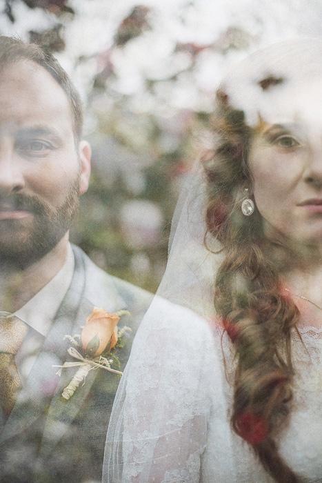 double exposure wedding portrait