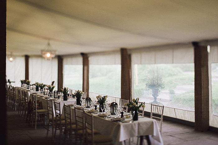 wedding tent set-up