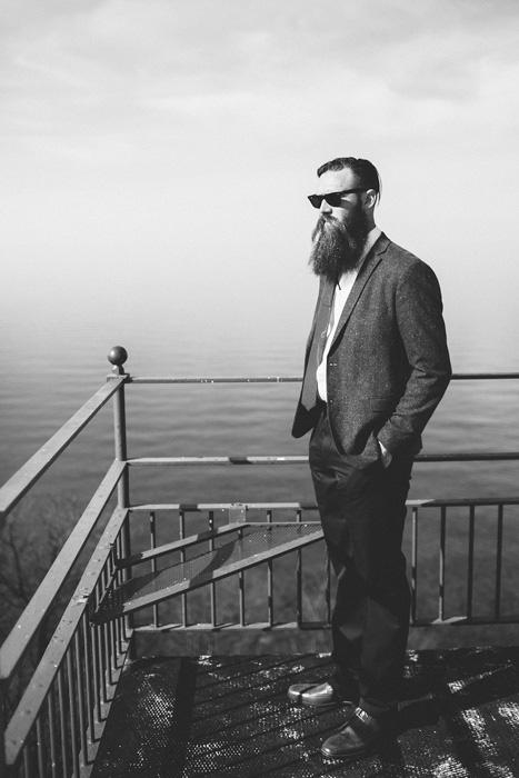 bearded groom