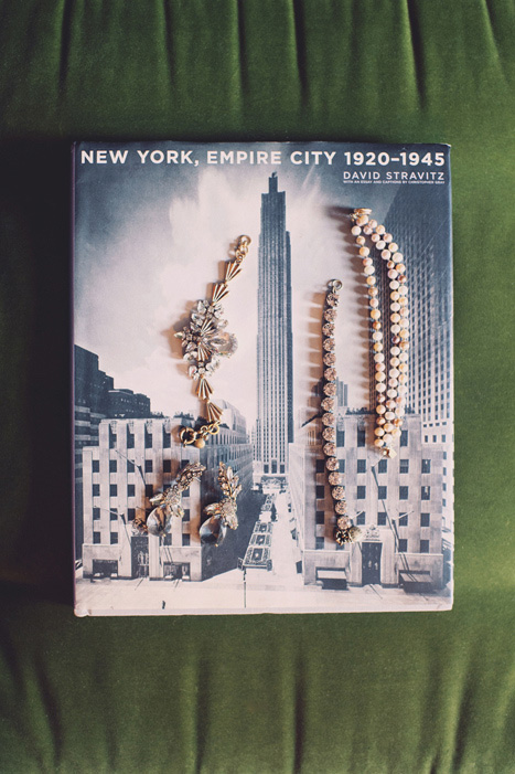 wedding jewellery on vintage New York book