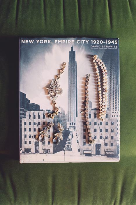 wedding jewellery on vintage New York book