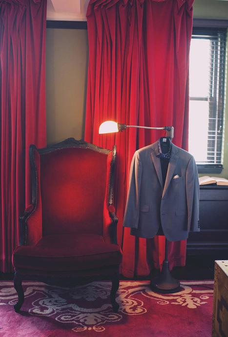 groom's suit hanging up