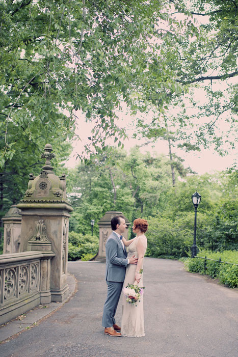 wedding portrait in Central Park