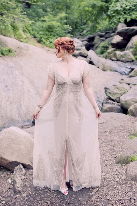 bride portrait in Central Park