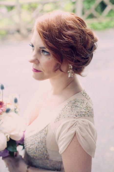 profile portrait of bride