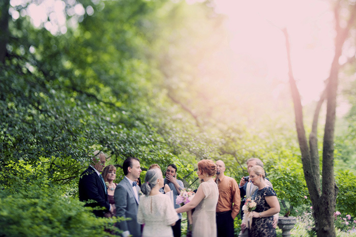 wedding ceremony in Central Park