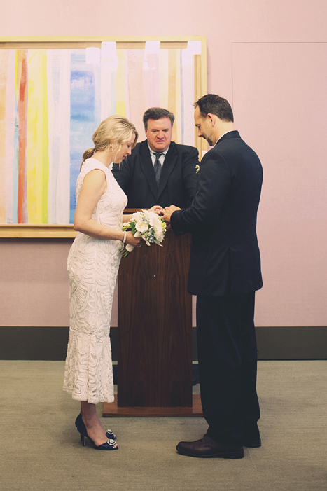City Hall wedding ceremony