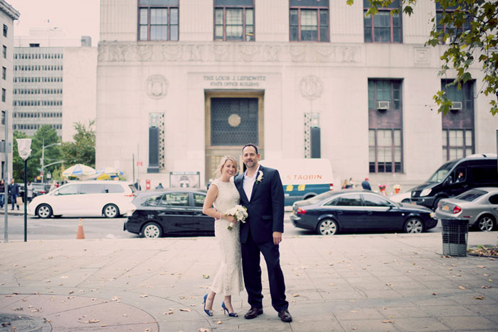 bride and groom in New York