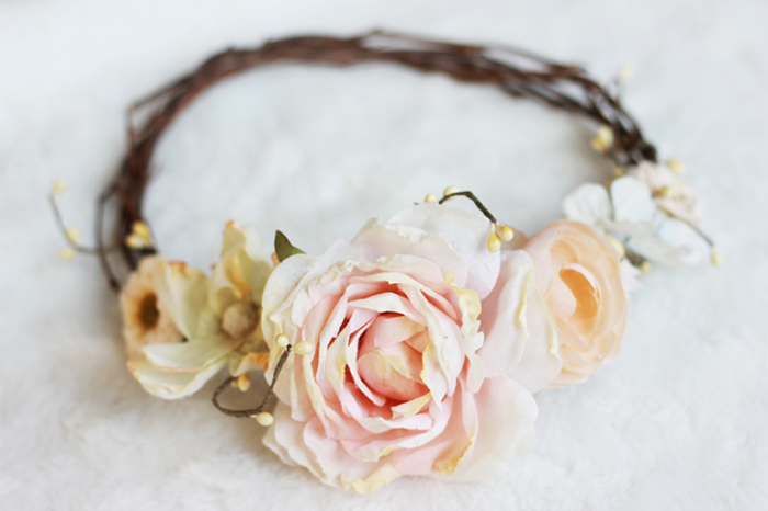 rose floral crown