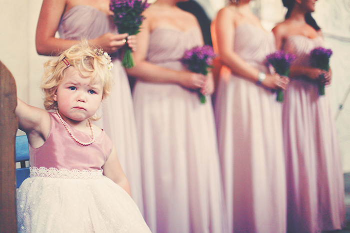 flower girl at the altar