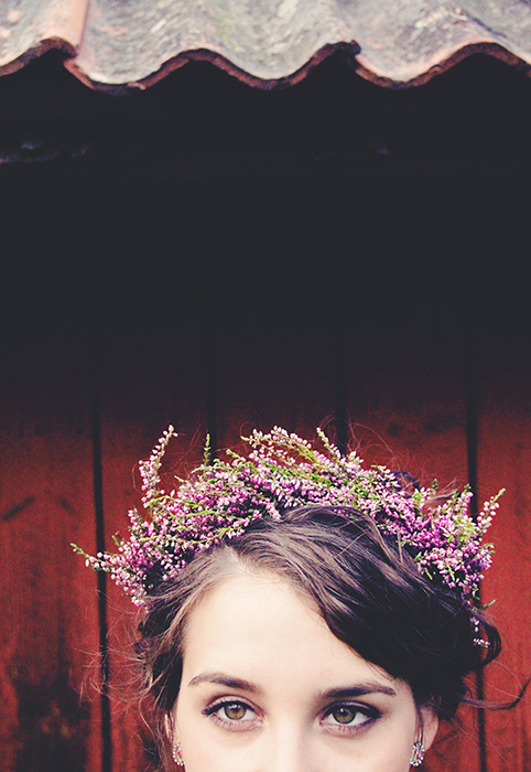 bridesmaid in lavender crown