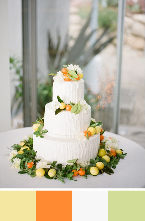 yellow wedding color palette