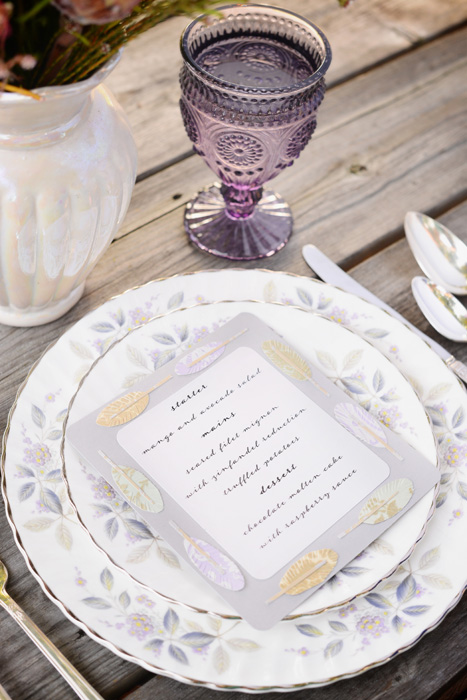 diy menu anna griffin