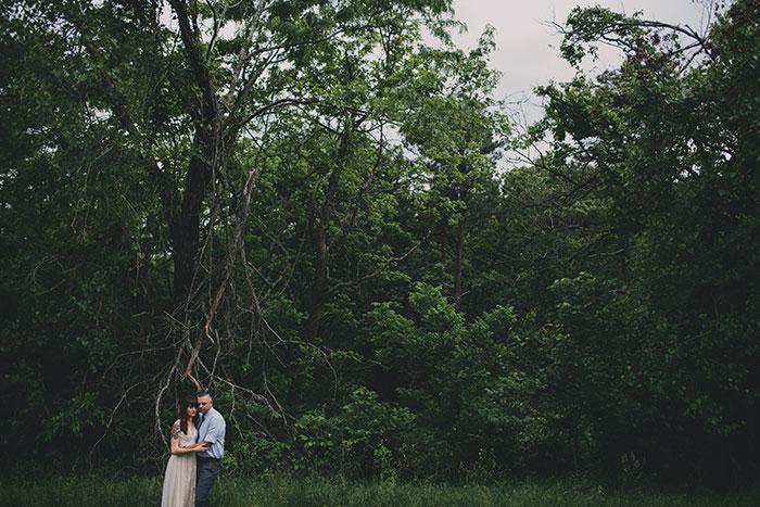 wedding portrait in park
