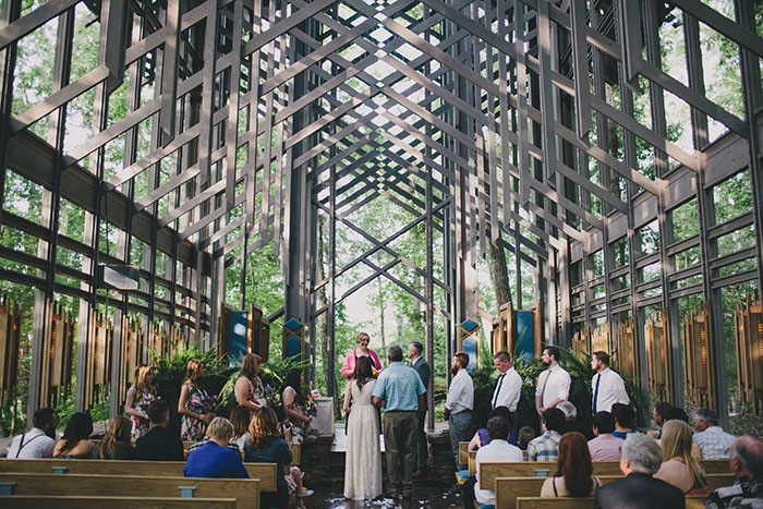 thorncrown chapel wedding ceremony