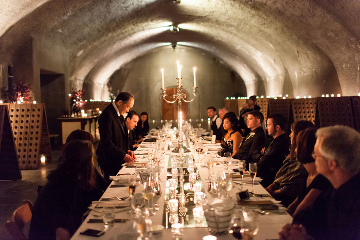 wine cave wedding reception