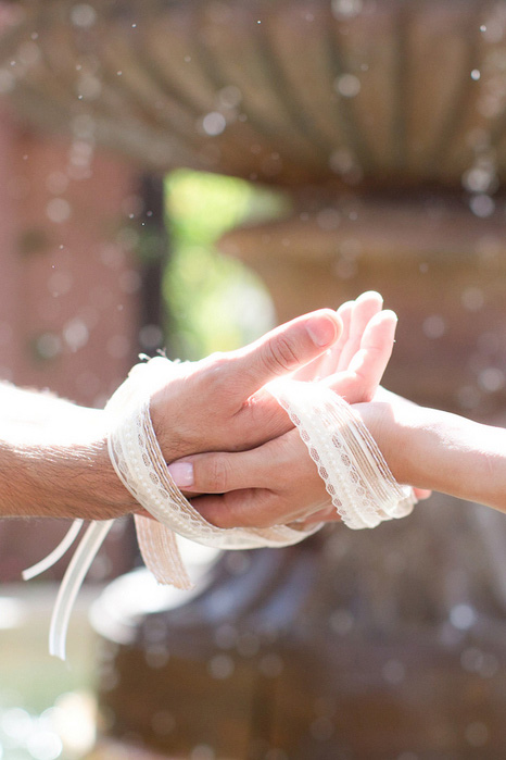 hand tying ceremony