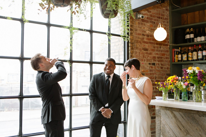Brooklyn restaurant wedding ceremony