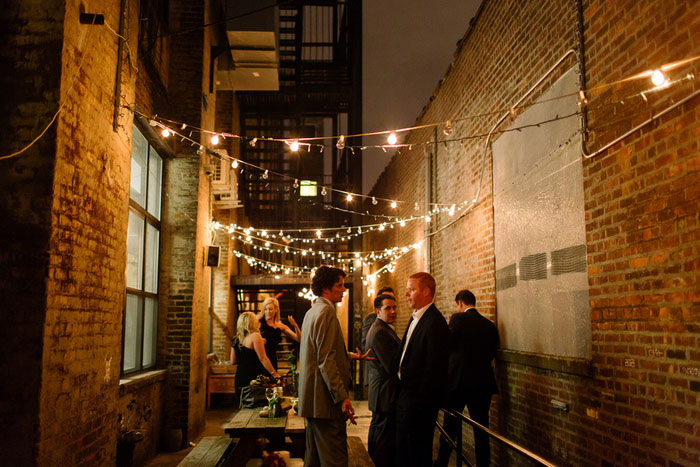 outdoor patio wedding reception