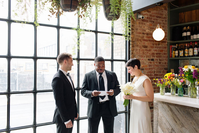restaurant wedding ceremony