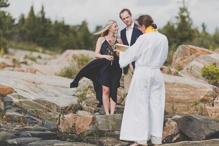 outdoor Georgian Bay wedding ceremony