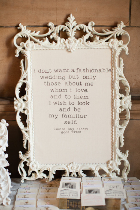 10 ways to use quotes on your wedding day http stylemeprettygallerypicture812656 junglespirit Gallery