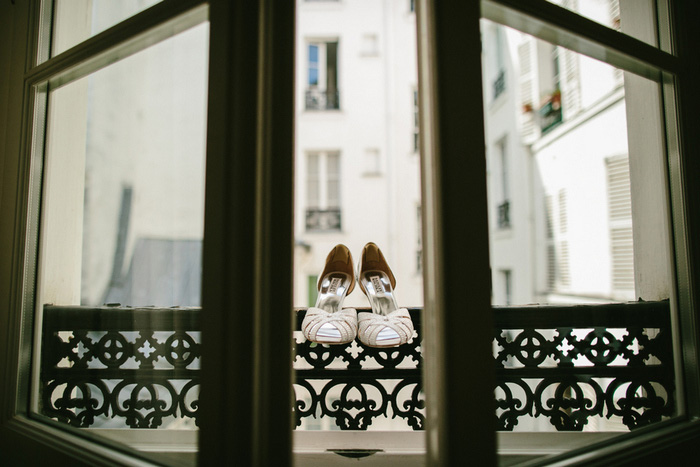 wedding shoes in paris window