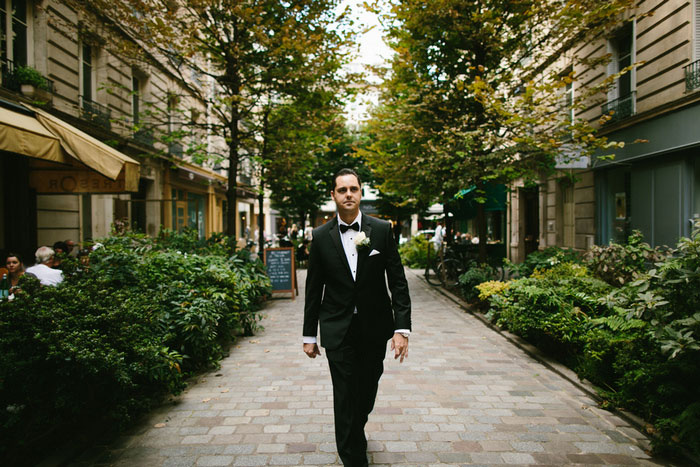 groom walking in paris