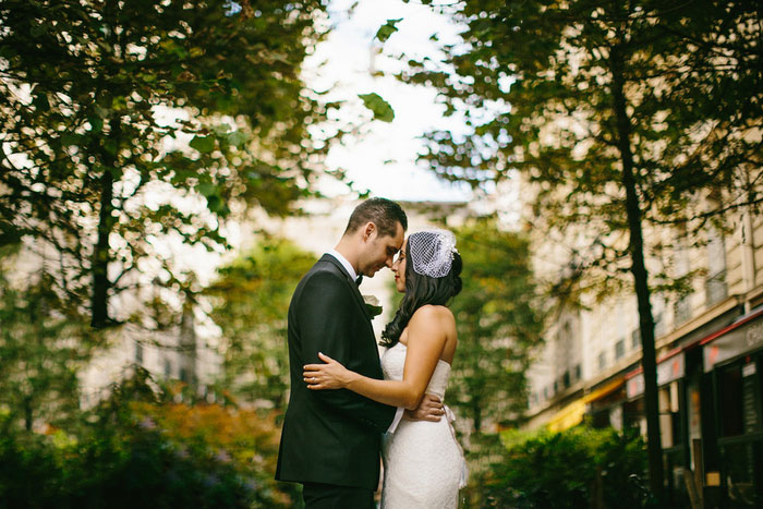 intimate wedding portrait