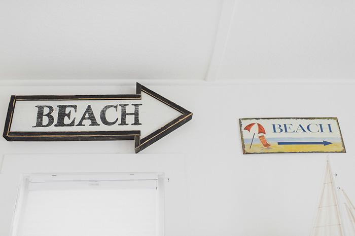 cottage beach sign