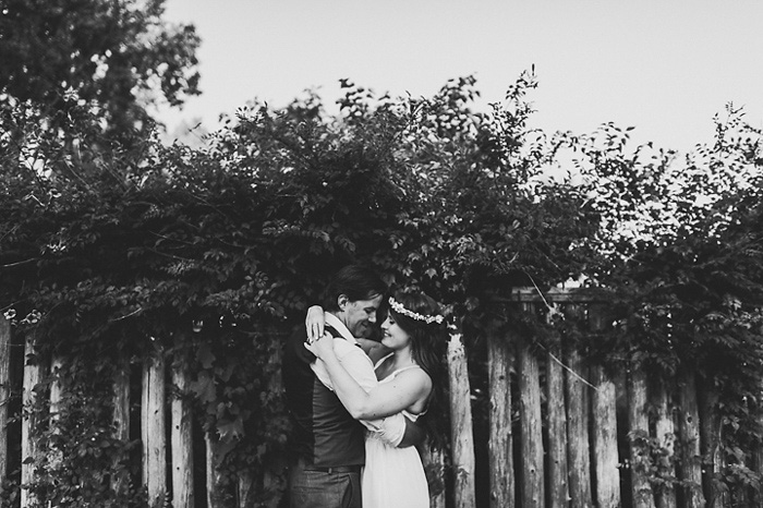 cottage wedding portrait