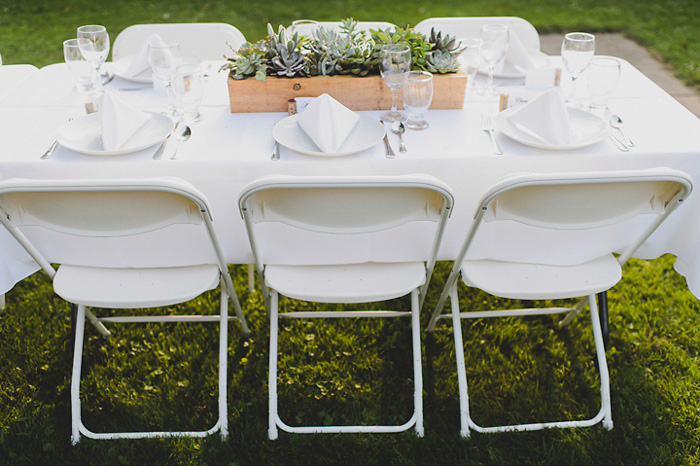cottage wedding reception set-up
