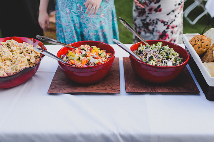 cottage wedding reception buffet