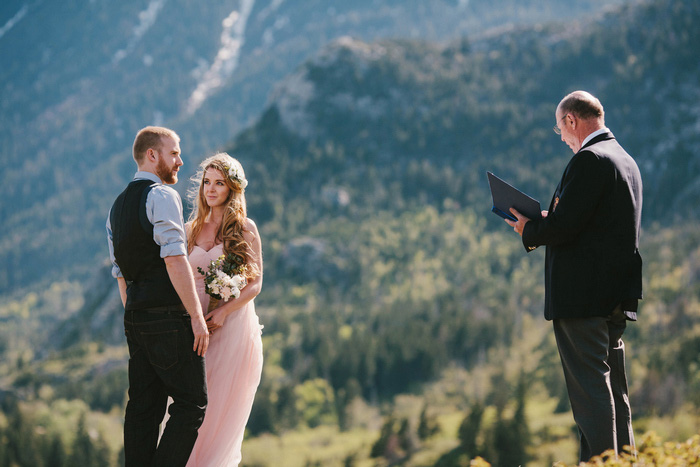 eloepement ceremony in the mountains