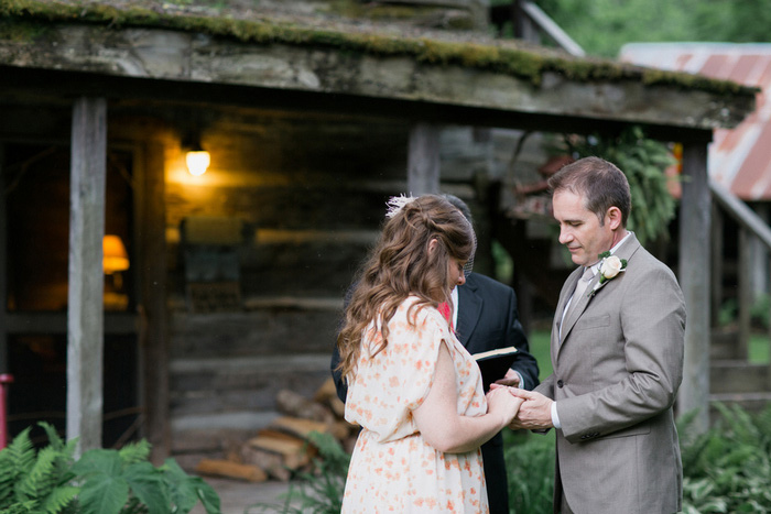 intimate elopement ceremony