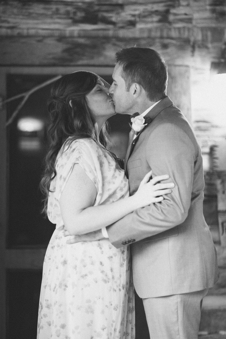 elopement kiss