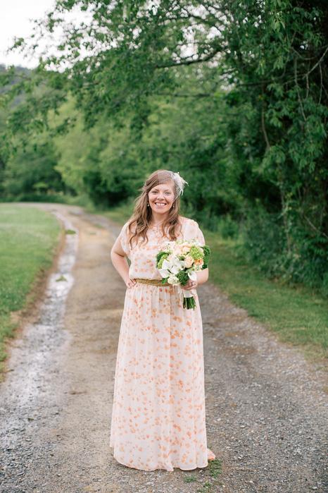 bride portrait on dirt road