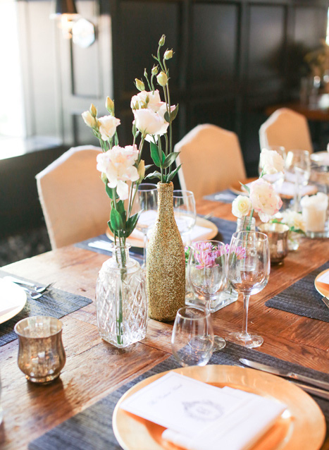 glitter bottle centerpieces