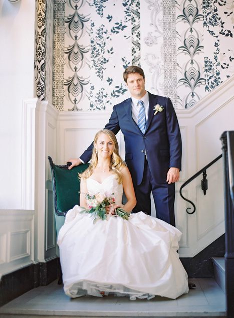 Culver Hotel wedding portrait